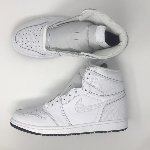 9c332784d083 Nike air Jordan 1 retro OG White black bottom